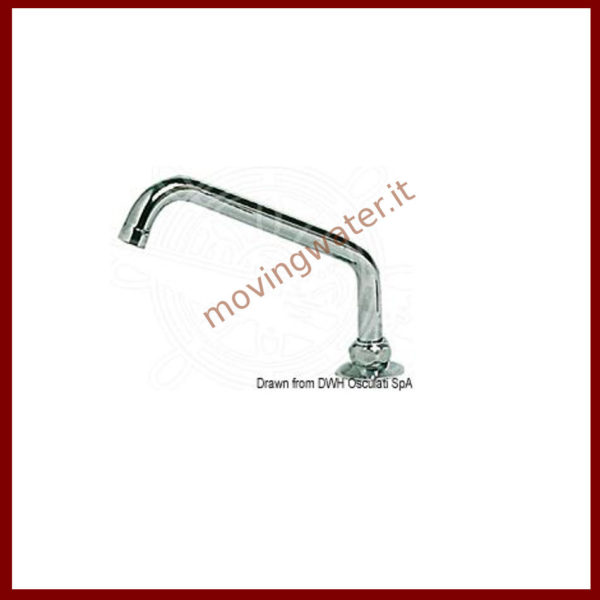 swivel faucet in chrome-plated brass